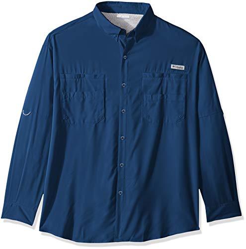 Tamiami Angeln Shirt (Columbia Herren PFG TamiamiTM II Langarmshirt - Big, Herren, Men's PFG TamiamiTM II Long Sleeve Shirt - Big, Night Tide, 1X)