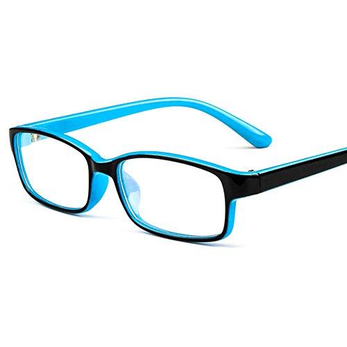 Junkai occhiali da vista per ragazzi con lenti trasparenti + custodia per occhiali