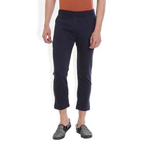 Rocx Men Cotton Navy Blue Track Pant