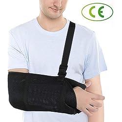 DOACT Cabestrillo Hombro - Inmovilizador ajustable con Eslinga de Hombro y Codo de Muñeca, Proporciona Estabilización y Soporte para Hombres y Mujeres la Izquierda y la Derecha Mano