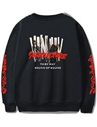SIMYJOY Pärchen Jimin Bangtanboys Sweatshirt Cool Hip Pop KPOP Pullover für Liebespaar Männer Damen Teenager Jugendliche