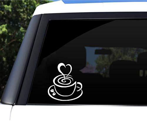 Aufkleber Design Auto 15,3X16,9 CM Kaffeetasse Liebe Heckscheibe Dekoration Cartoon Auto Aufkleber Zubehör