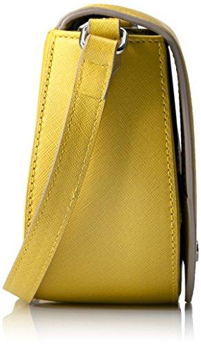 Ecco Damen Iola Small Saddle Bag Umhängetasche, 7,5 x 15 x 31 cm Gelb (lemon)