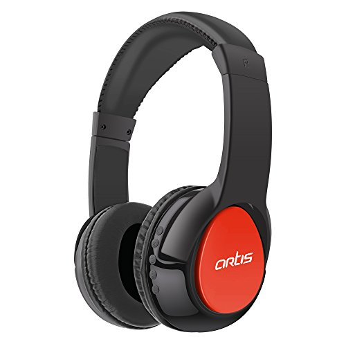Artis BH200M Bluetooth Headphone with Mic. / FM Radio / Micro SD card Reader (Black-Red)  available at amazon for Rs.999