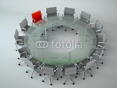 Alu-Dibond-Bild 80 x 60 cm: 'Bürodesign - Konferenztisch', Bild auf Alu-Dibond