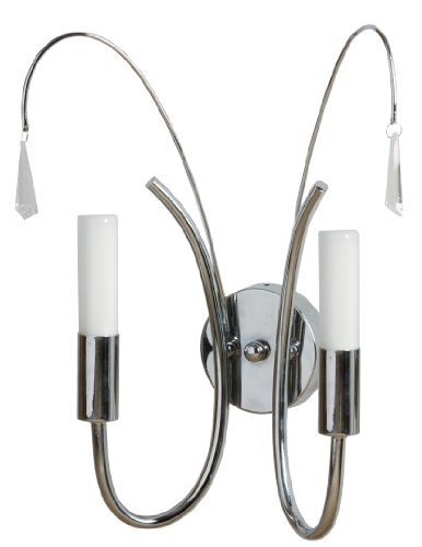 TP24 Low Energy Algiers Double Wall Light in Chrome Finish with (Chrome Finish Low Energy)