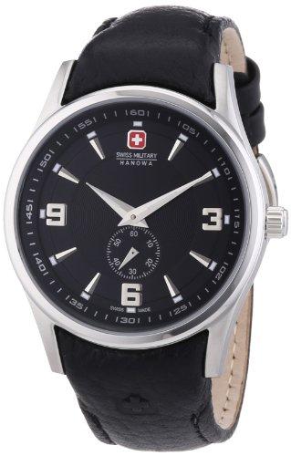 Swiss Military Hanowa - 06-6209.04.007 - Montre Femme - Quartz Analogique - Bracelet Cuir Noir