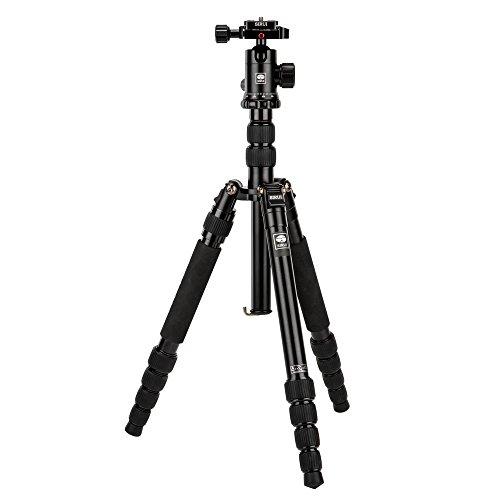 SIRUI NT-1005X/E-10 Universal Traveler Drei-/Einbeinstativ mit E-10 Kopf (Aluminium, Höhe: 148.3cm, Gewicht: 1.44kg, Belastbarkeit: 10kg) mit Tasche
