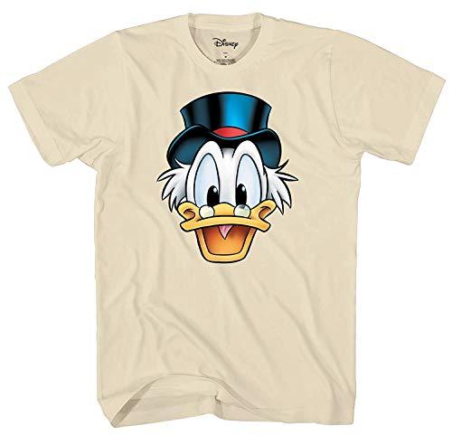 Disney Ducktales Onkel Scrooge McDuck Big Face Kostüm T-Shirt - weiß - Groß
