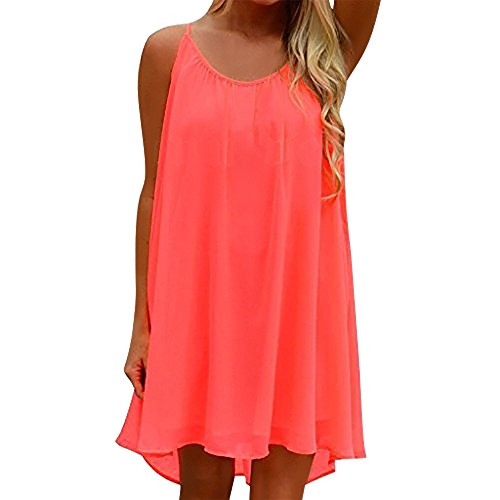 1ef32204a35a Yidarton Womens Summer Long Dress Casual Sleeveless Beach Backless Mini  Dresses for Evening Party Red S - Buy Online in Oman.