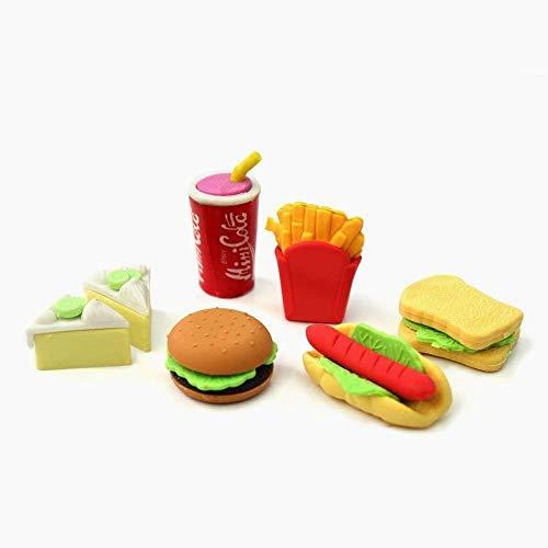 (Beito Kind-Briefpapier-Radiergummi Radiergummi Essen Fast Food Set)