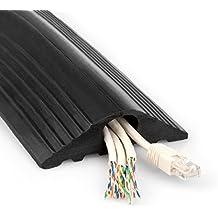 Yousave Accessories–Protector de cable negro de goma para suelos, CA-XY12-4MTR