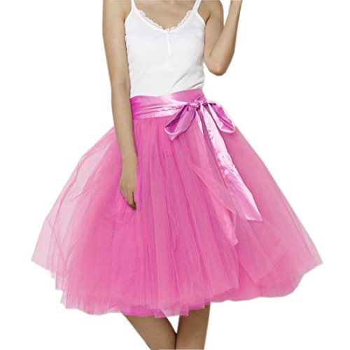 Honeystore Damen's Rock Tutu Polyester Damenrock Tütü Cosplay Kurz Tanzkleid Party Minirock Pettiskirt Tüllrock Unterrock Sommer Falten Rock 3XL (Kostüm Kinder Für Popstar Barbie)