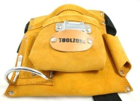 5 POCKET LEATHER TOOL POUCH by Toolzone