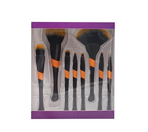 8 juego de pinceles de maquillaje de niña de béisbol polvo suelto pincel de miel en polvo cepillo de fibra de alta calidad belleza herramienta de maquillaje negro