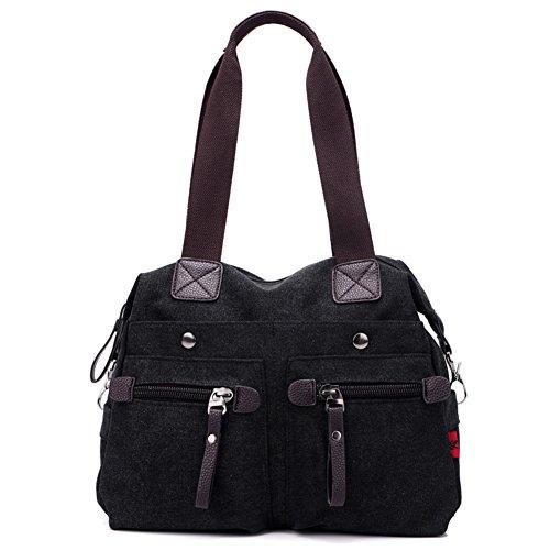 Ladies singola borsa a tracolla,borsa di tela,portatile/messenger bag-Blu nero