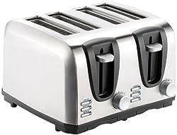 Rosenstein & Söhne Brot-Toaster: Edelstahl-Toaster für 4 Scheiben, 1300 W (Design-Toaster)