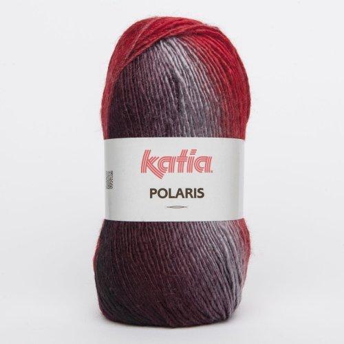 Katia Polaris - Farbe: Rojos/Negro/Gris (66) - 100 g / ca. 236 m Wolle -