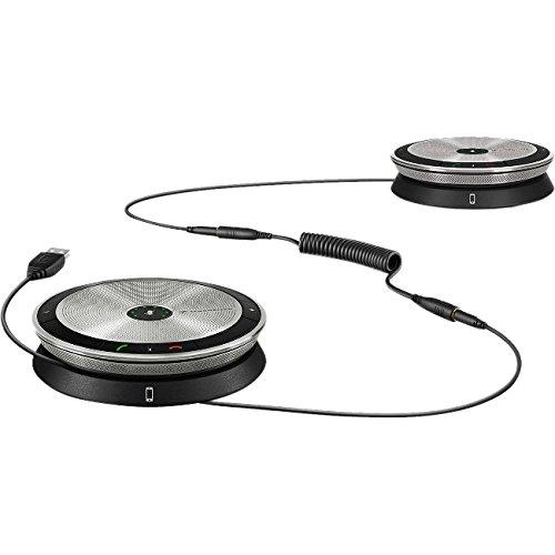 Image of Sennheiser SP 220MS Universal USB 2.0schwarz, silber Freisprecheinrichtung, speakerphones (Universal, schwarz, silber, tragbar, Touch, Skype für Business, 150–15000Hz)