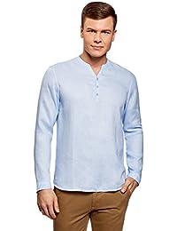 MERAKI Camisa Clásica Entallada de Vestir Hombre n7c0VH