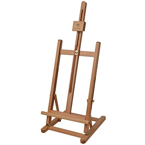 Artina Tischstaffelei Metz als Sitz-Staffelei aus Buche-Holz für Keilrahmen bis 57cm - Verstellbarer Neigungswinkel