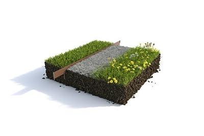 Rasenkante Metall 10 er Set Profi Qualität aus Stahl Rasenbegrenzung (robust, flexibel, einfach) von Martin Global AG auf Du und dein Garten