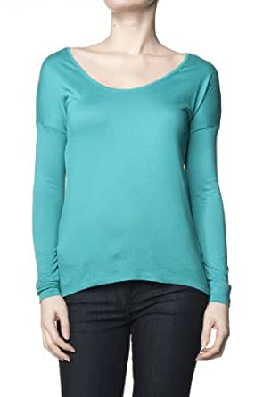 Salsa - Pull avec ouverture dans le dos en tissu fond transparent - - Vert - M
