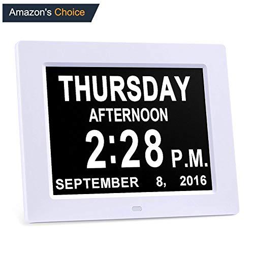 Calendrier Digital.Kaylocheer Digital Mur Clock Alarme Clock De Cuisine Led Clock Extra Large Calendrier Jour Horloge Electronique Avec Batterie Backup Grands