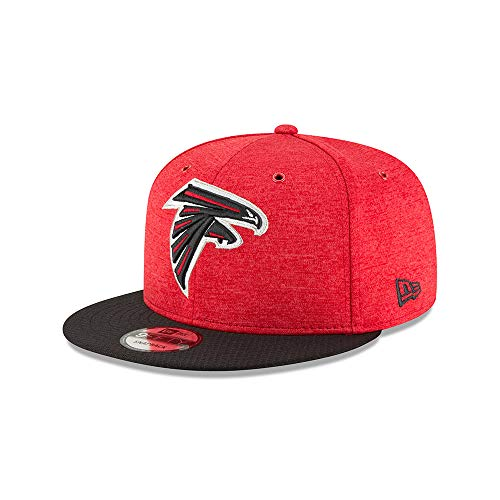 New Era NFL Atlanta Falcons Authentic 2018 Sideline 9FIFTY Snapback Home Cap, Red, S/M