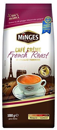Minges Café Crème French Roast, ganze Bohne, Aroma-Softpack, 1.000 g, 1er Pack (1 x 1 kg)