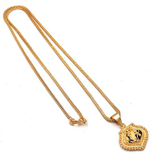Jewar jewelbox Shiva God gold plated rudraksh mala chain long 28 inches for Men 6587