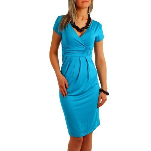 Fancy That Clothing - Robe -  Femme Cyan Azul