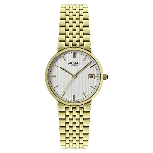 Rotary Men's Quartz Silver Dial Analogue Display and Gold Stainless Steel Bracelet GB00498/06