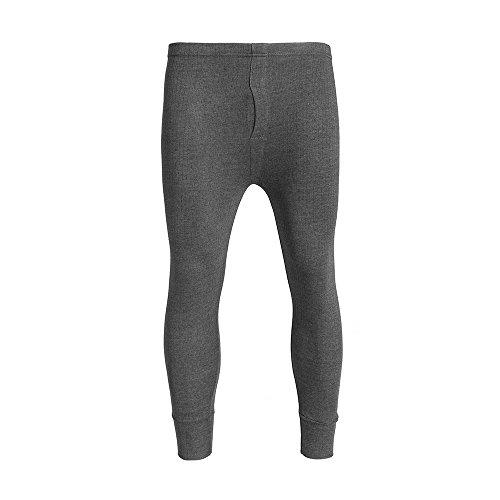 Brody & Co® leggins lunghi da uomo, calzamaglia termica spazzolata, foderata, a costine, caldo strato invernale, antracite Charcoal Large