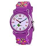 3-12 Jahre alte Mädchen Geschenke, Tisy 3D Karikatur Uhren für Kinder Spielzeug für 3-12 Jahre alte Mädchen Schmetterling TSUKWH03