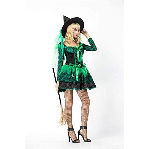 Nette Kostüm Frauen Hexe - PIN Halloween-Kostüme Frauen-Halloween-Kostüm Cosplay Nettes freches grünes Hexe-Leistungs-Kostüm