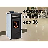 Estufa DE Pellet Modelo Eco 06 9 KW POTNECIA Maxima Colores Negra, Blanca Y Burdeos