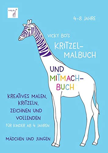 Kritzel-Malbuch und Mitmach-Buch. 4-8 Jahre