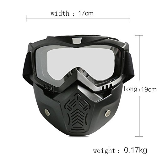 Hund Ghostbuster Kostüm (XNPP Schutzbrille Gesichtsmaske Helme Madbike Motorrad Motocross Mund Filter für Vintage Helme , slices of)
