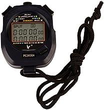 Ckeyin® Cronómetro para equipos deportivos profesionales, Pantalla 3 líneas, 30 tiempos de memoria
