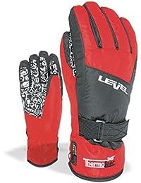 Level Handschuh Junior - Guantes de esquí para niño, color rojo, talla VI