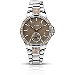 Sekonda Women's Quartz Watch with Grey Dial Analogue Display and Silver Bracelet 2182.37