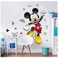 Walltastic Topolino Disney Adesivo Personaggio Grande, Carta, Multicolore, 7x7x52.5 cm
