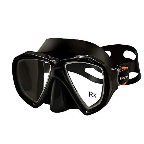 EnzoDate Optische Schnorchelmaske Korrektive Taucherbrille Bifocal Near Far Sight Myopia Gehärtetes Glas