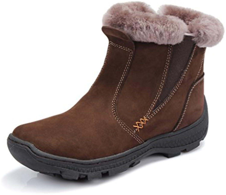 Schneestiefel Baumwolle Schuhe im Mittleren Alter Snow Boots Verdickung Kurze Stiefel Rutschfest Stiefel (Farbe