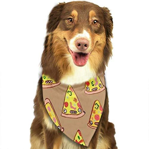 Wfispiy Ham and Pineapple Pizza Fashion Pet Bandanas Dog Car Neck Scarf for Unisex Pet Boy - Pizza Boy Kostüm