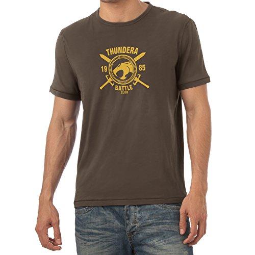 TEXLAB - Thundera Battle Club 1985 - Herren T-Shirt Braun