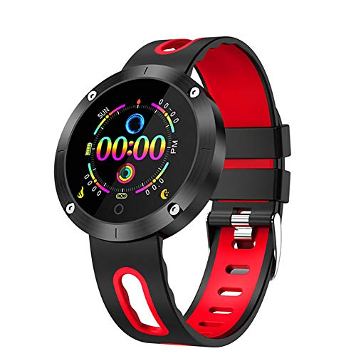 XRFF Bluetooth-Armband 4,0 Blutdruck H & R IP68 wasserdicht Aktivität Tracker Smart Band Geschenk für Freund,Red - Zu Band Changeable Sehen