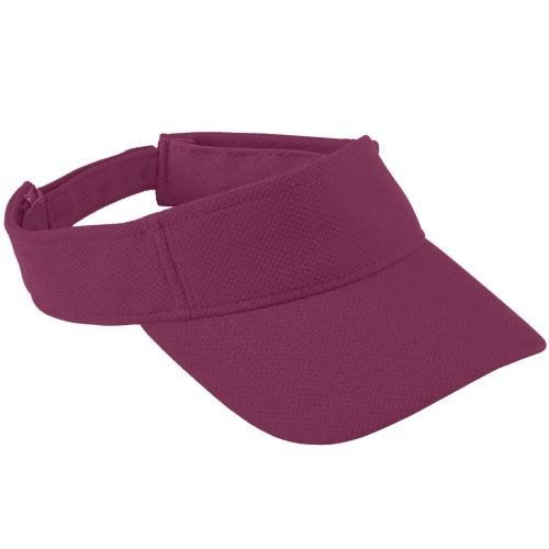 Adult Adjustable Wicking Mesh Visor MAROON OS (Augusta-mesh-visor)