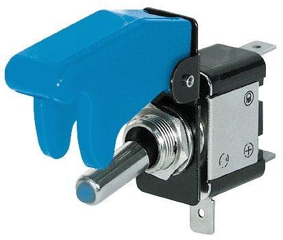 No-Name Kill-Switch mit Schutzkappe und LED, 12 V/35 A, blau
